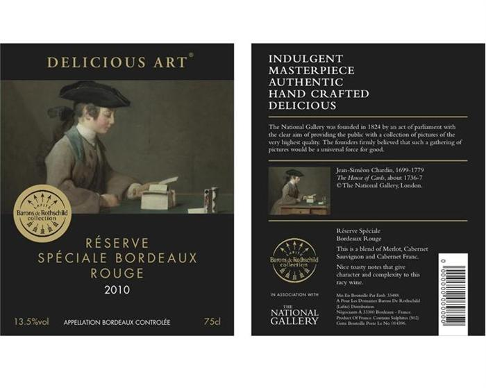 Delicious Art wine concept and design direction by Avenida Isabel for the National Gallery